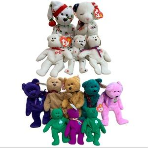 Ty Beanie Babies Asst. Bears. Collection of 13